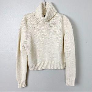 J Crew Chunky Knit Turtleneck Sweater M